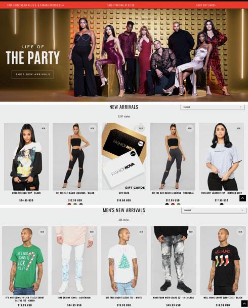הקונספט: בגדים טרנדיים, חלקם הגדול העתקים של להיטים מפיד האינסטגרם של כוכבות רשת (צילום: מתוך fashionnova.com)