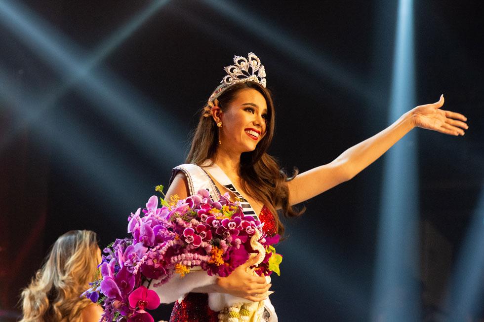 קתריונה גריי בת ה-24. מוזיקאית ודוגמנית (צילום: Miss Universe / Frank L Szelwach)