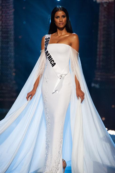 במקום השני: מיס דרום אפריקה תמרין גרין (צילום: Miss Universe / Patrick Prather)