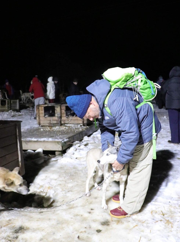ביקור בחווה לאילוף כלבי האסקי שמתחרים בתחרויות מזחלת (צילום: זאב ינאי)