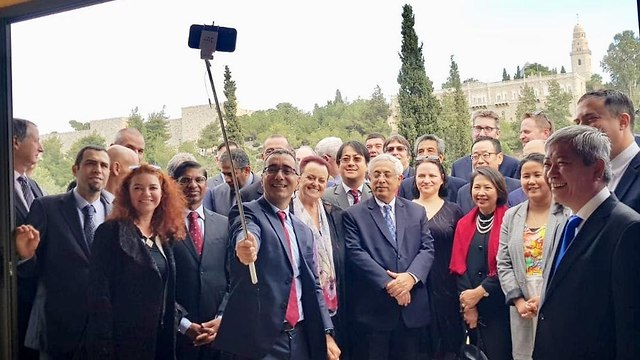 Ambassador from Asia-Pacific countries in Jerusalem, December 17, 2018