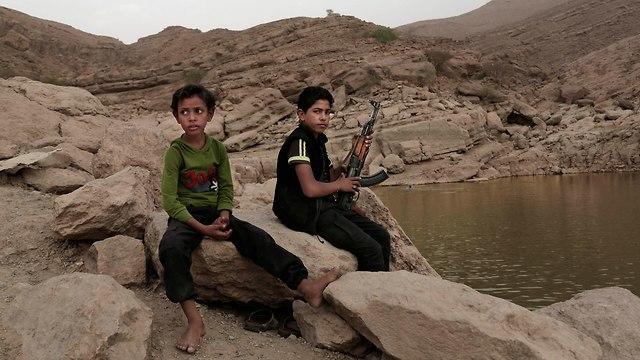 Houthi children in Yemen (Photo: AP)