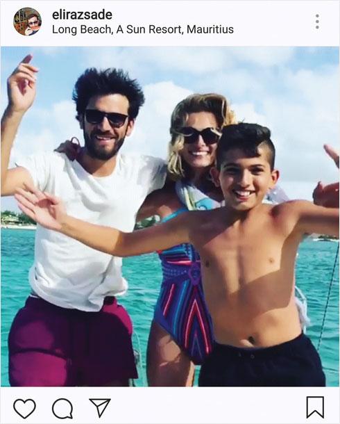 """אחד הדברים שהקשו עליהם היה הסטטוס המשפחתי של לוי. """"הוא היה רווק ואני הייתי גרושה עם ילדים"""", הסבירה. """"זה לא הכי התאים לו"""" (צילום: מתוך האינסטגרם של elirazsade@)"""