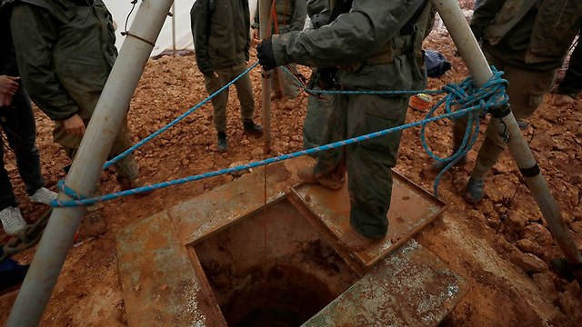 Hezbollah tunnel exposed by IDF (Photo: EPA)