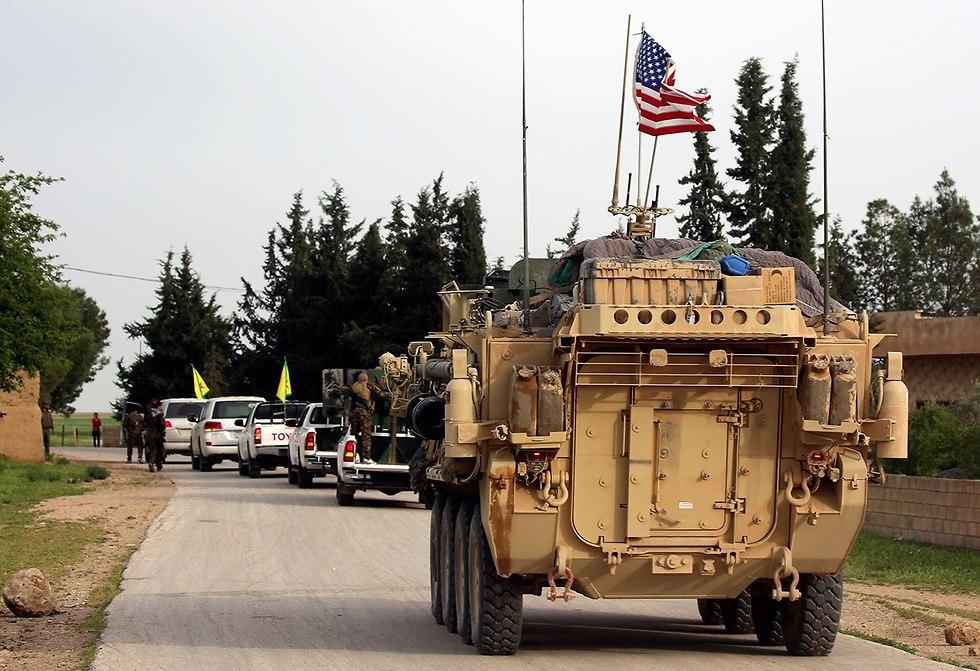 חיילים אמריקנים בסוריה (צילום: AFP)