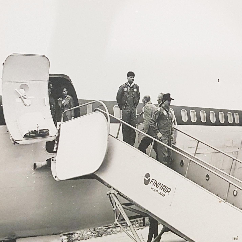 קשרים הדוקים. מפקד חיל האוויר האיראני, הגנרל ראביעי, מגיע לביקור בישראל במטוס של חיל האוויר האיראני