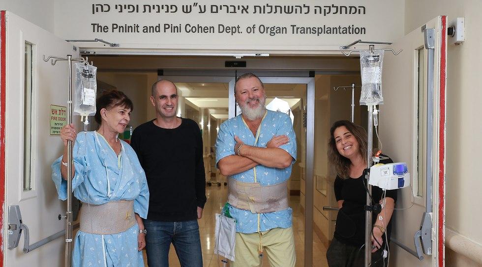 The recipients of the kidney transplants (Photo: Abigail Uzi)