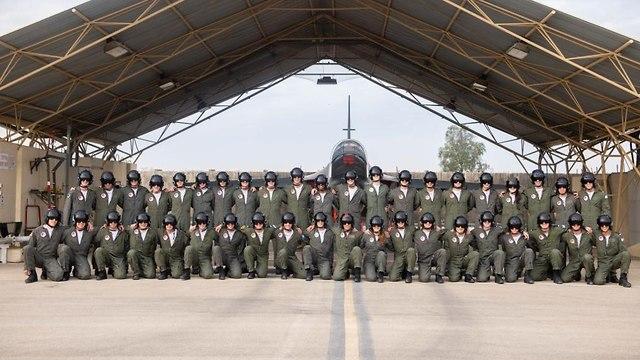 בוגרי קורס טיס, מחזור 177 (צילום: דובר צה