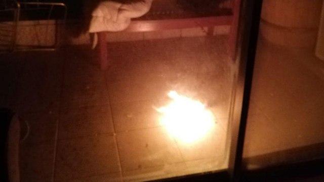 Molotov cocktail in Ma'ale Hazeitim