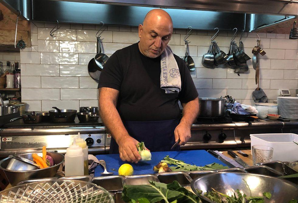 שף עזרא קדם (צילום: תיקי גולן)
