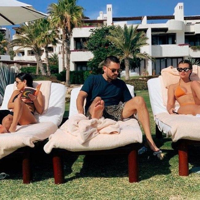 חלום. סקוט דיסיק, סופיה ריצ'י וקורטני קרדשיאן (צילום: אינסטגרם)