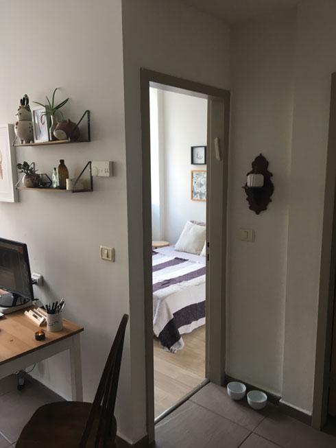 """דירה שהיתה פעם משרד בבניין ברחוב לינקולן בתל אביב. """"משופצת ומתוקתקת""""  (צילום: דקל גודוביץ)"""