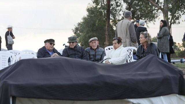 Simcha Rotem laid to rest, December 24, 2018 (Photo: Ohad Zwigenberg)