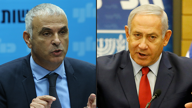 Finance Minister Moshe Kahlon and Prime Minister Benjamin Netanyahu (Photo: Amit, EPA)