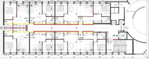 תוכנית קומה שהוסבה לדירות  (תוכנית: מתוך tel-aviv.gov.il)