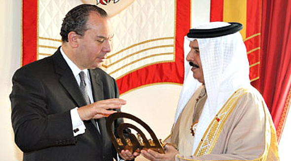 Rabbi Schneier with Bahraini King Hamad bin Isa Al Khalifa (Photo: PR)