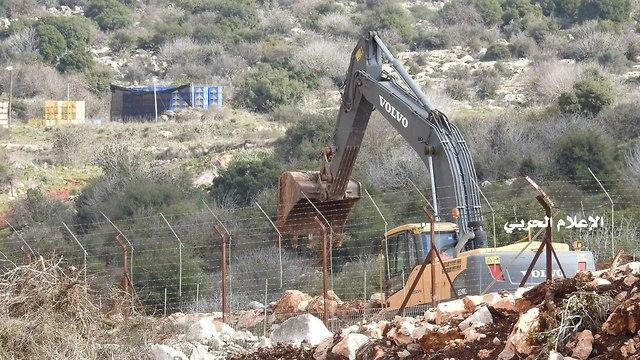 צילום מהצד הלבנוני של עבודות צה