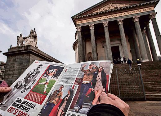 עיתון בטורינו מדווח על נישואיהם הקרובים של רונאלדו וג'ורג'ינה