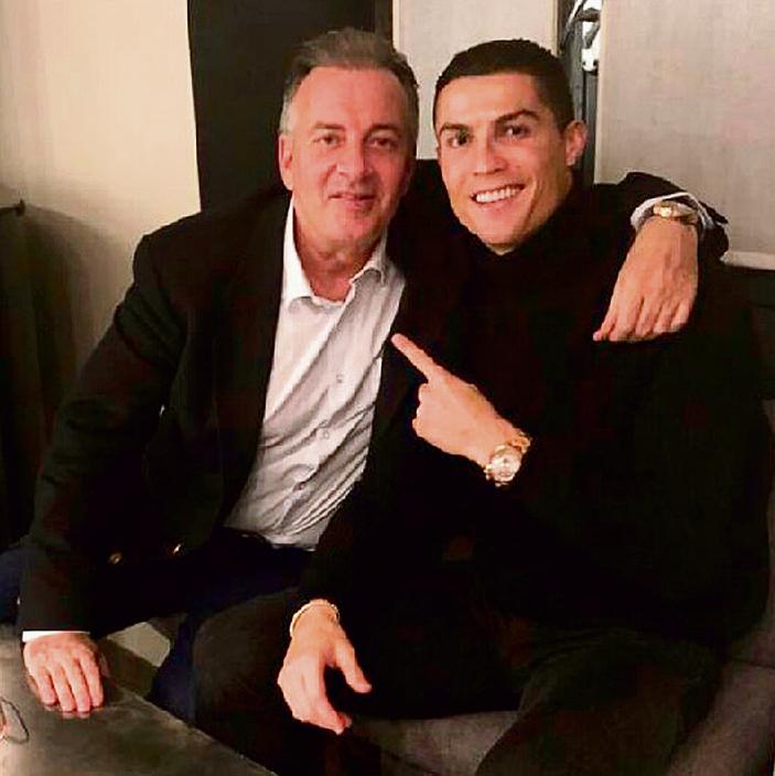"""רונאלדו עם החבר הטוב, מאסימו פראנצ'י. """"הוא אמר לי שהוא חולם להיות השחקן הטוב בעולם"""""""
