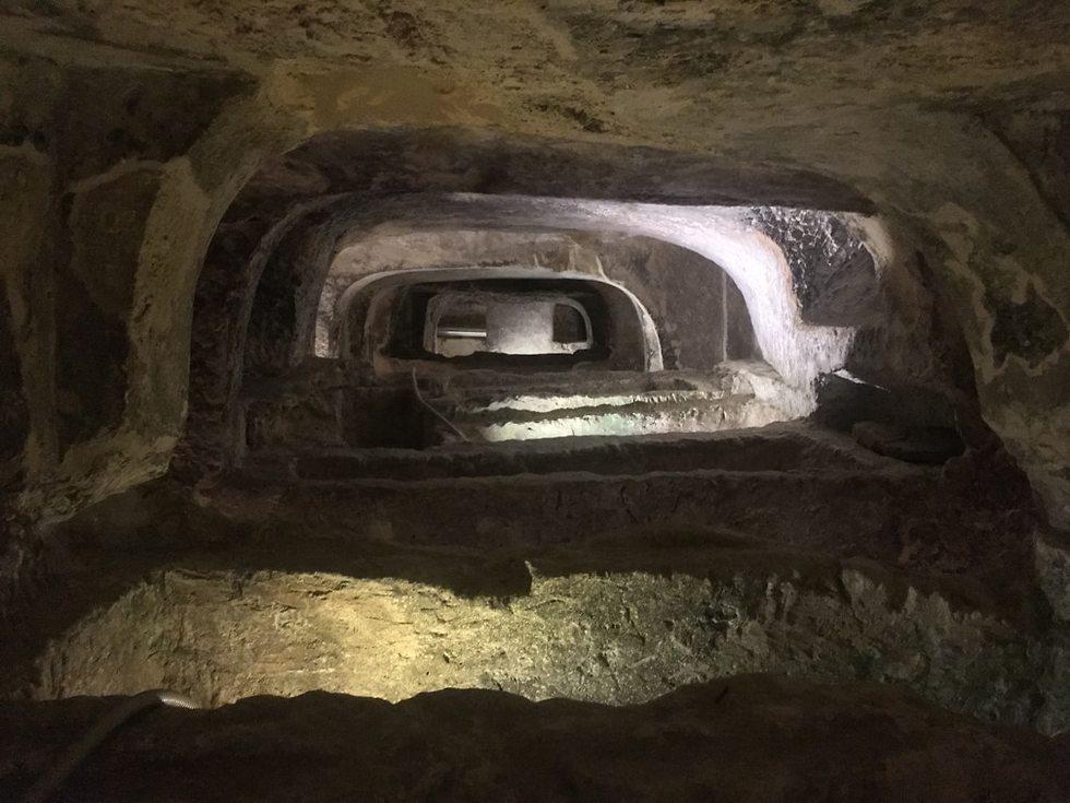הקטקומבות של פאולוס השליח ברבאט (צילום: גלעד כרמלי)