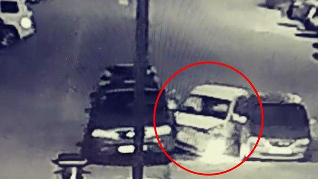 גנב רכב בגבעת שמואל התנגש ברכבים חונים ()
