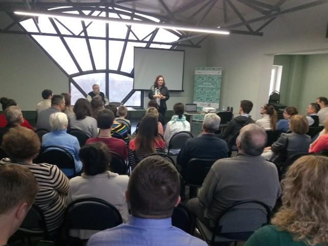 Во время семинара в Бресте. Фото: Давид Шехтер