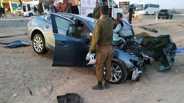 תאונת דרכים בכביש 90  (צילום: תיעוד מבצעי מד