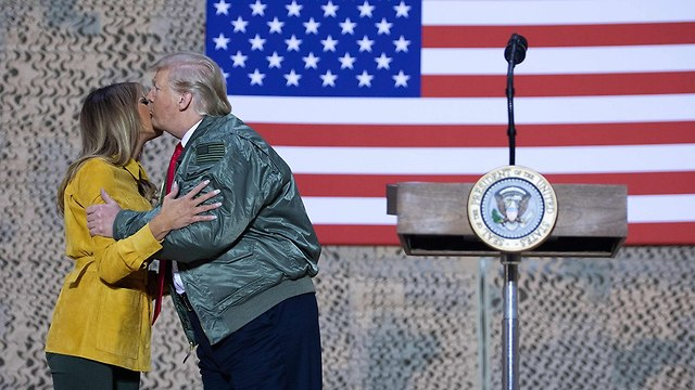 Мелания и Дональд Трамп в Ираке. Фото: AFP