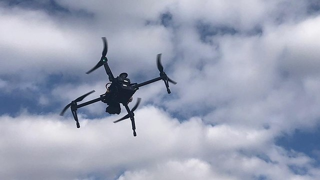 An airborne drone (Photo: Eshkol Regional Council)