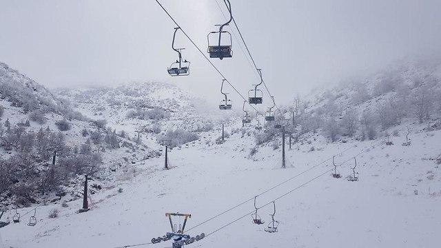 Снег на Хермоне. Фото: пресс-служба объекта