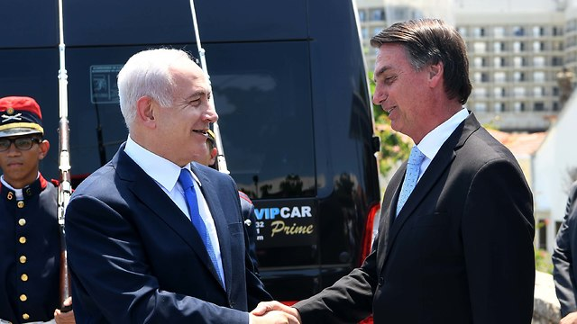 Jair Bolsonaro and Benjamin Netanyahu (Photo: Avi OhayoGPO)