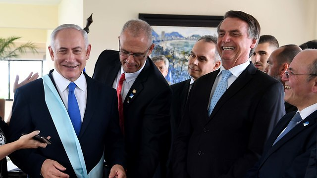 Jair Bolsonaro and Benjamin Netanyahu (Photo: Avi OhayonGPO)