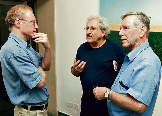 """שלושת ענקי הספרות. עם א""""ב יהושע ודויד גרוסמן   צילום: גטי אימג'ס"""