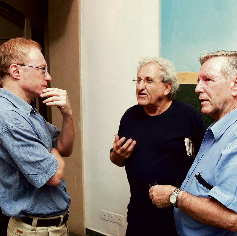 David Grossman, A.B. Yehoshua, and Amos Oz (left to right)