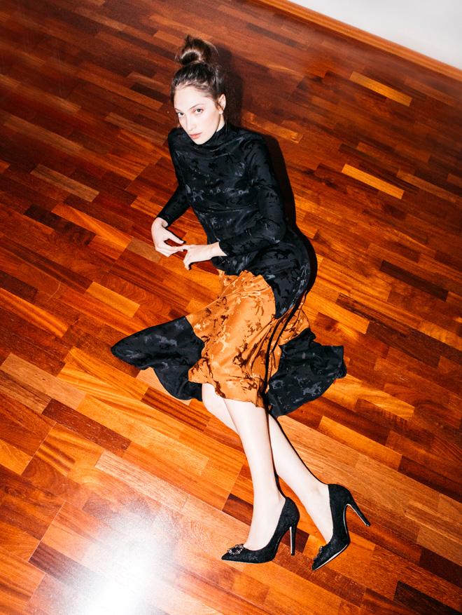 שמלה, גאני בבוטיק ורנר   נעליים, אלדו (צילום: עדי סגל)