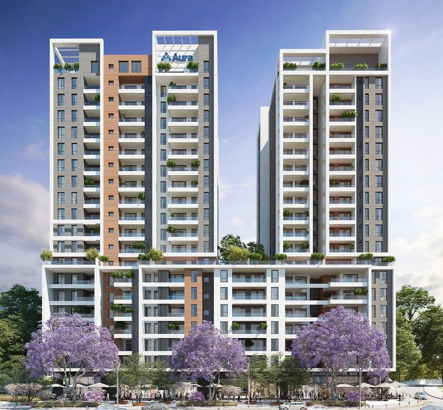 687 יחידות דיור חדשות במתחם אילת (הדמיות באדיבות אאורה, כנען שנהב אדריכלים)