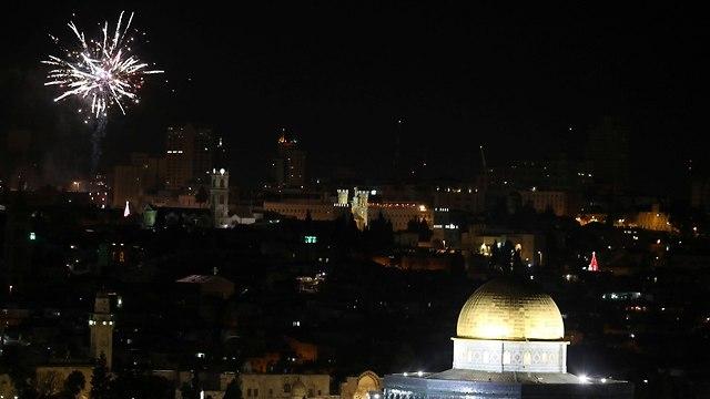 New Year's celebrations in Jerusalem, December 31, 2018 (Photo: Reuters)