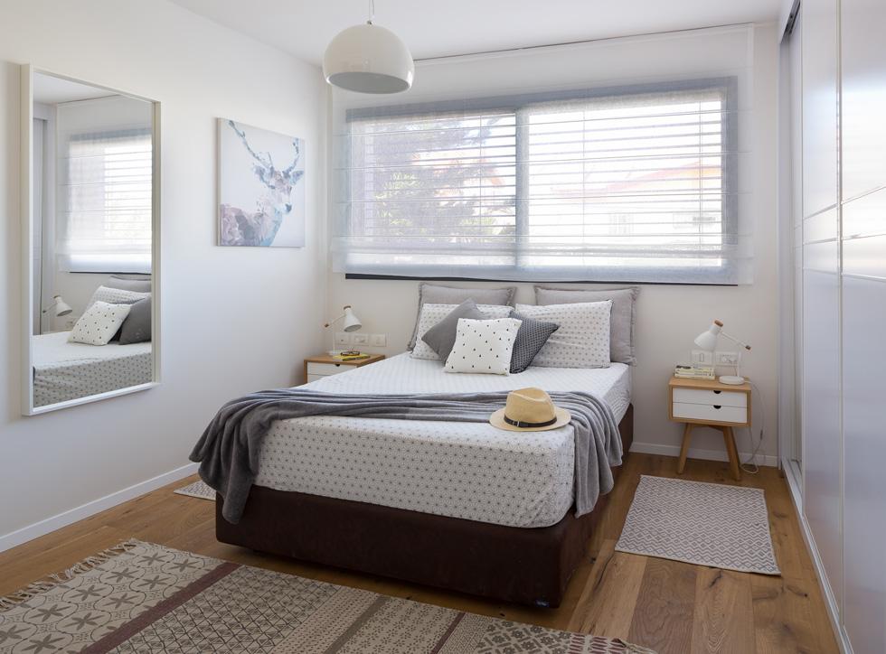 חדר השינה. מקום מפלט שקט, רך ונקי מרעשים (צילום: שי אפשטיין)