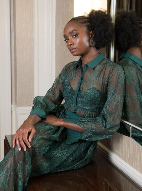 כל תמונה שלה נראית כמו הפקת אופנה. קיקי ליין (צילום: AP)