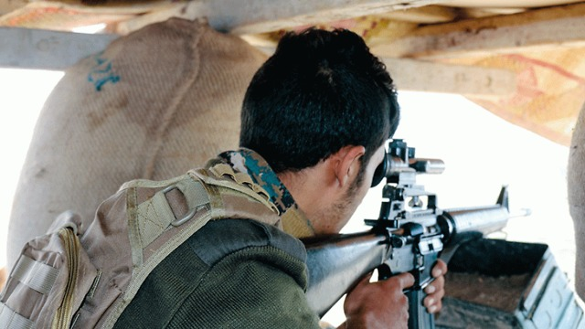 A Syrian Democratic Forces sniper (Photo: Courtesy)