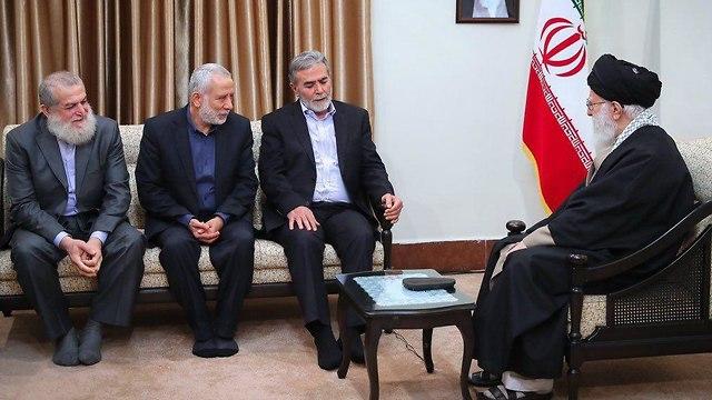 """נשיא איראן למנהיג הג'יהאד האיסלאמי: """"הדרך היחידה - להילחם בישראל 89799440991397640360no"""