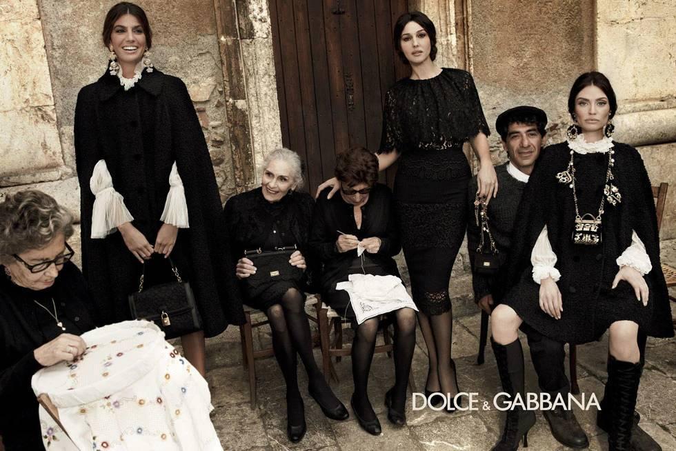 Дафни Селф на съемках рекламы для DOLCE&GABBANA