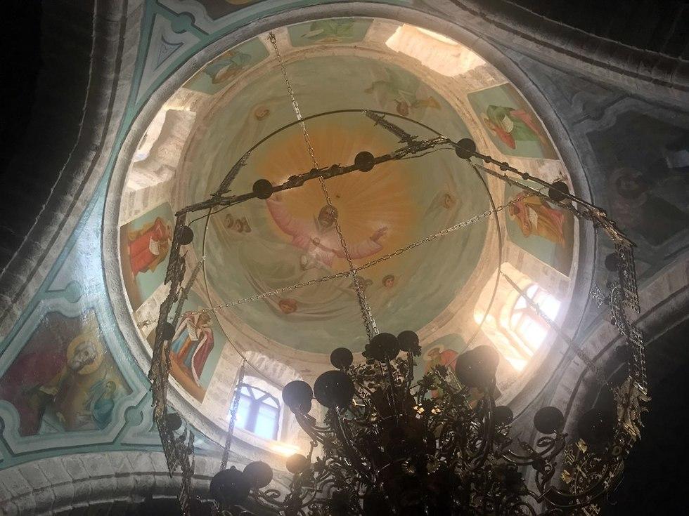 תקרת מנזר דיר חג'לה (צילום: גלעד כרמלי)