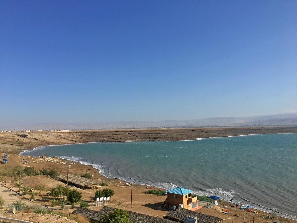 החופים ביאנקיני וקליה בצפון ים המלח (צילום: גלעד כרמלי)