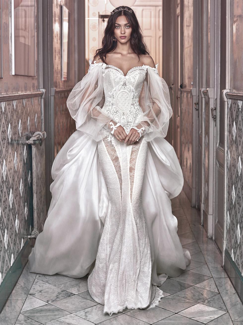 Свадебное платье из коллекции Галии Лахав. Фото: Грег Сваллс