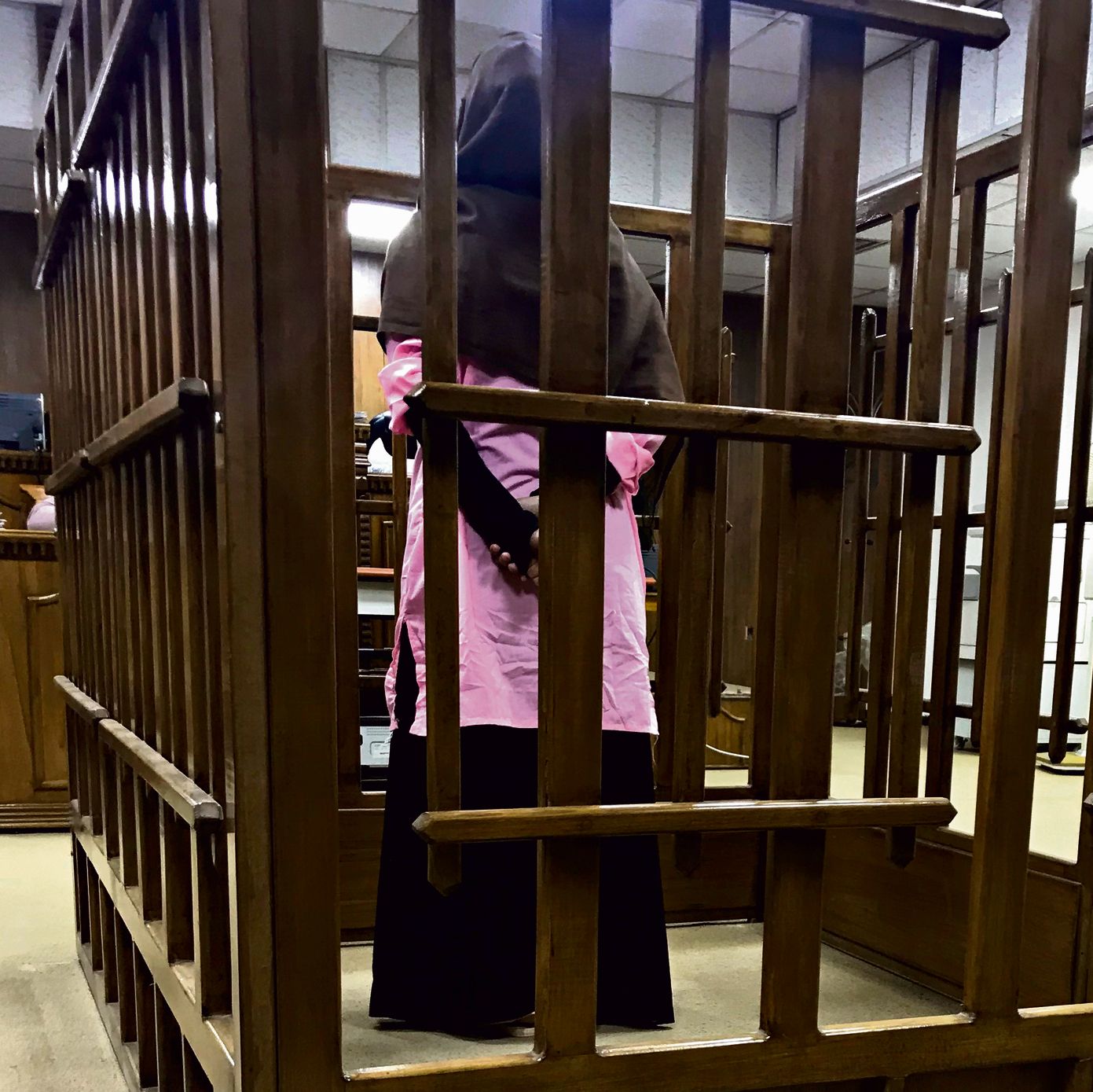 French ISIS member during her trial in Baghdad