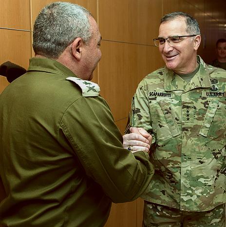 עם הגנרל האמריקאי סקפרוטי. שותפים למלחמה בדאעש