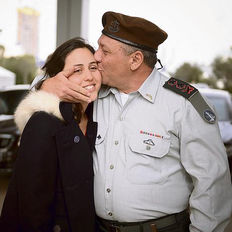 """עם בתו יעל, בטקס מינויו לרמטכ""""ל"""