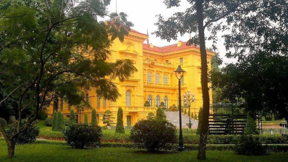 בית האירוח במתחם הממשלתי בהאנוי. גם הנשיא ריבלין התארח כאן (צילום: יוסי פישר)