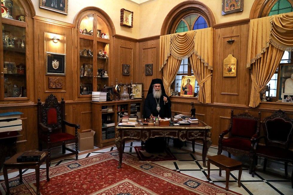 His Beatitude Theophilos III, the Greek Orthodox Patriarch of Jerusalem